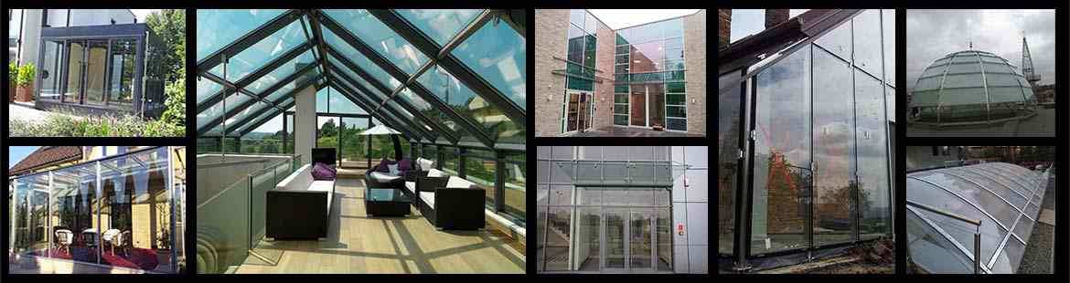 Glass and steel roofs, consrvatories